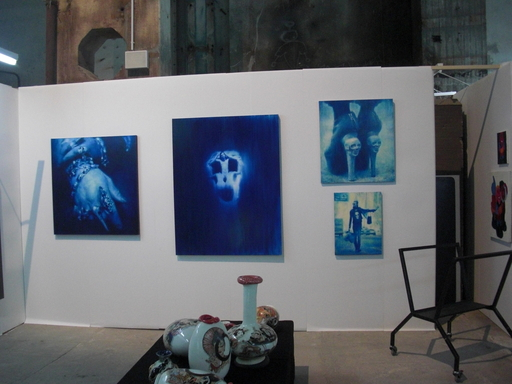 Booth view with Ivanovs works at Berlinerliste 2013