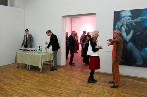 A Ivanovs paiting and guests